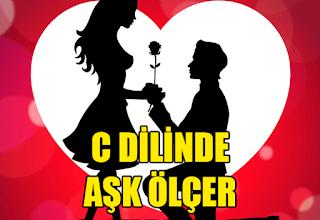 Photo of C Programlama Dilinde Aşk Ölçer