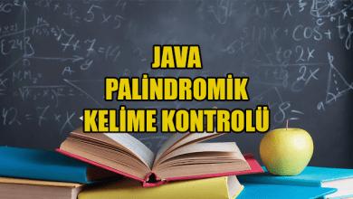 Photo of Java İle Palindromik Kelime Kontrolü