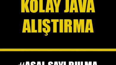 Photo of Java Dilinde Asal Sayı Kontrolü