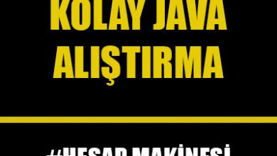 Photo of Java Dilinde Basit Hesap Makinesi