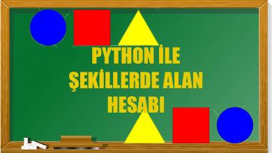 Photo of Python İle Şekillerde Alan Hesabı