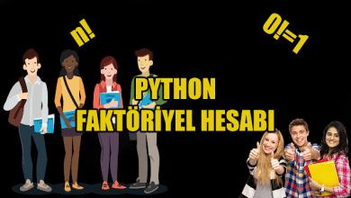 Photo of Python İle Faktöriyel Hesabı