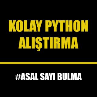 Python Dilinde Asal Sayı Kontrolü