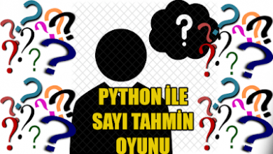 Photo of Python İle Sayı Tahmin Oyunu