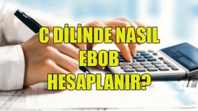 Photo of C ile Ebob Hesaplama