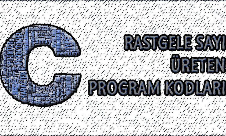 C dilinde random sayı üreten kod.