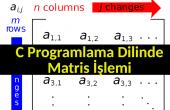 C programlama dilinde matris işlemleri nasıl yapılır