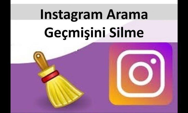 Instagram geçmişi silme