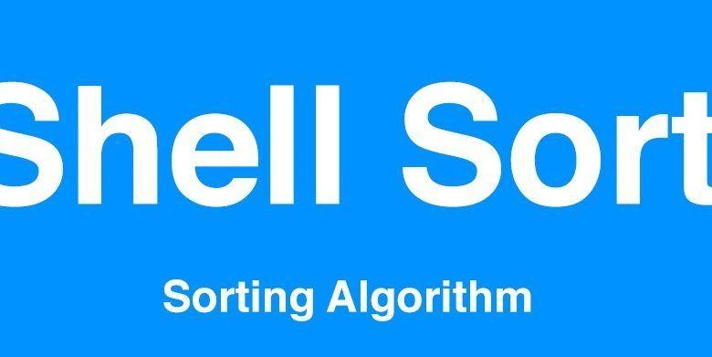 shell sort algoritması
