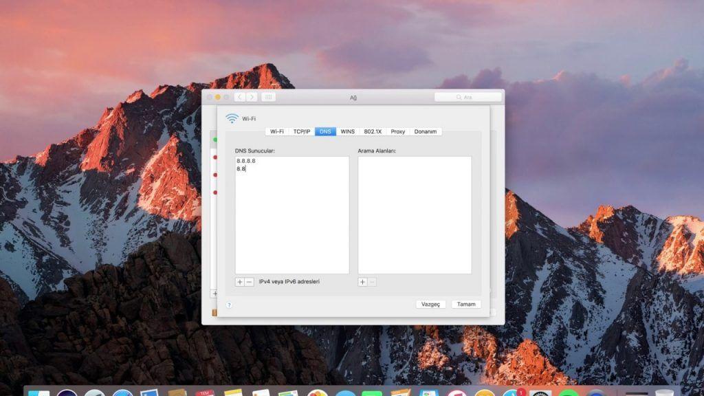 MacOS DNS ayarları nasıl değiştirilir?
