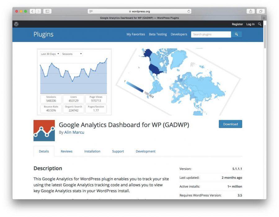 Google Analytics eklentisi