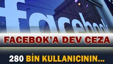 Photo of Türkiye, Facebook'a 1.6 Milyon TL Ceza Verdi