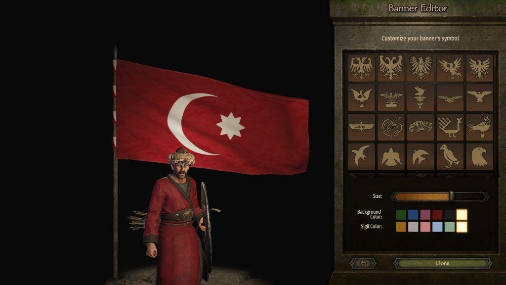 Bannerlord Osmanlı bayrağı tasarımı